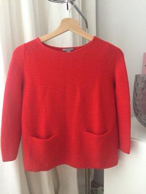 Wunderschöner Pullover Strickpullover von COS 100 % Merinowolle in rot, Gr. XS