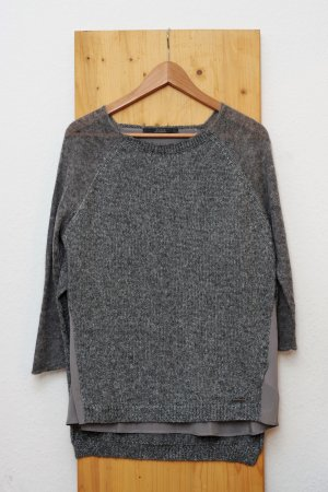Guess Wool Sweater grey-silver-colored wool