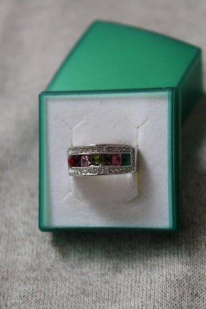 wunderschöner Ring * bunte Steine * gestempelt * Etikett noch dran *