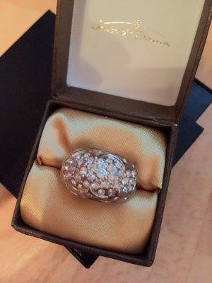 Wunderschöner Ring mit Glitzersteinen Größe