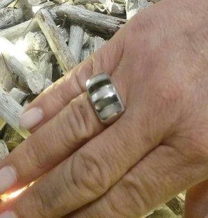 Zilveren ring lichtgrijs-rosé Zilver