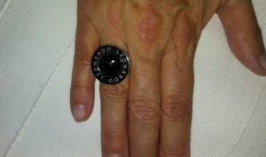 Leonardo Statement ring zilver-zwart Edelstaal