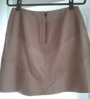 Zara Basic Leather Skirt dusky pink imitation leather