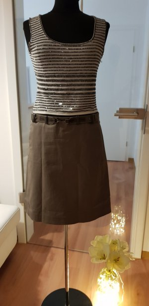 Max Mara Miniskirt grey brown cotton