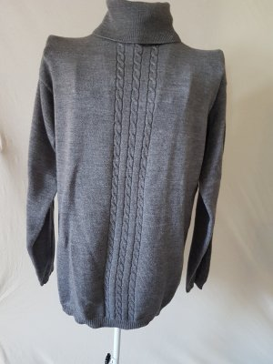 Wool Sweater grey merino wool