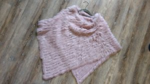 Fur vest light pink fur