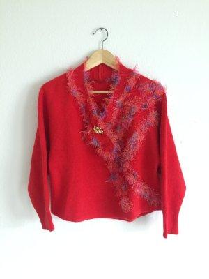 Top Vintage Jersey de lana multicolor