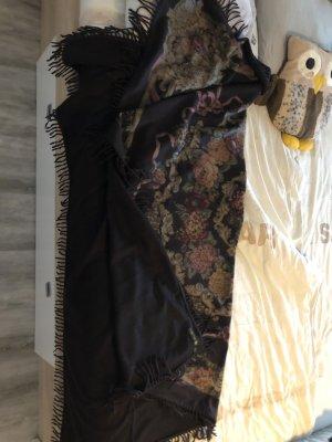 Acne Sciarpa in cashmere marrone-nero-bordeaux