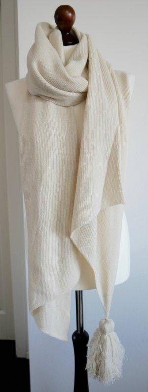 Wunderschöner Schal in beige mit Quaste