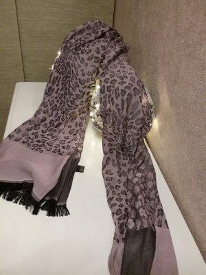 Sciarpa di seta viola-grigio-nero Seta