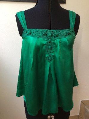 Wunderschöner Seidentop von  MNG Suit ( Mango) in Smaragdgrün