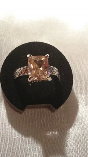 Wunderschöner Silber Ring 925 mit rosa Zirkonia Gr. 17