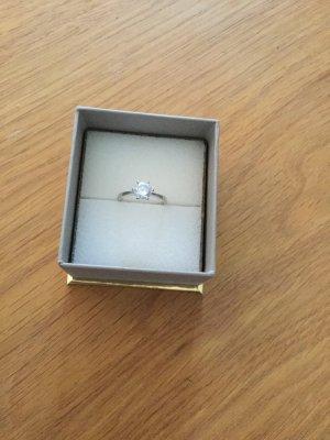 Zilveren ring wit-lichtgrijs Zilver
