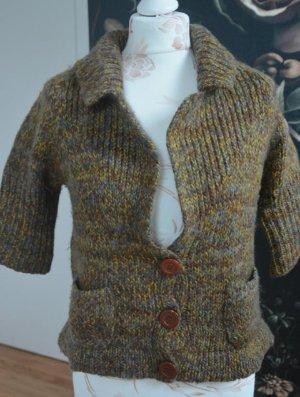 Zara Pull à gosses mailles multicolore tissu mixte