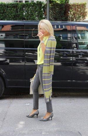 Long Jacket dark grey-yellow