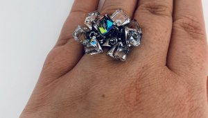 Swatch Statement Ring silver-colored real silver