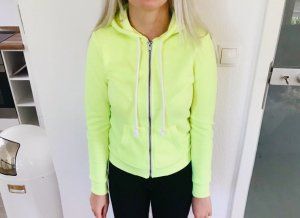 H&M Hooded Sweater pale yellow-neon yellow