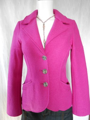 Wool Blazer pink-green merino wool