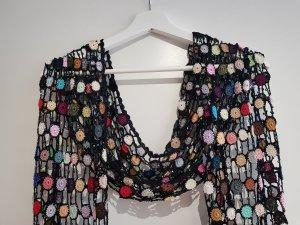 Écharpe en crochet multicolore coton