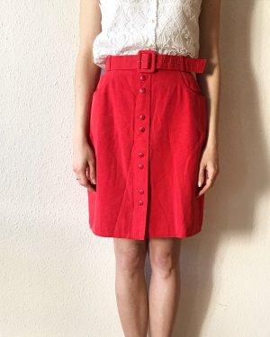 Vintage Pencil Skirt red-brick red