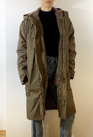 Vintage Hooded Coat multicolored