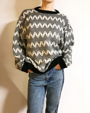Vintage Oversized Sweater black-white