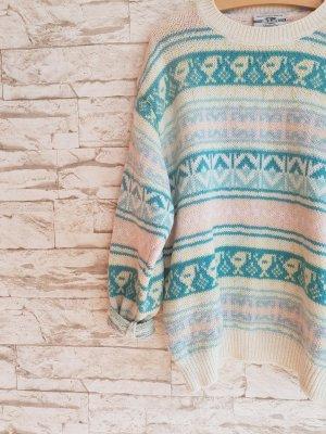 Wunderschöner Vintage Pullover Reine Schurwolle