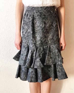 Vintage Flounce Skirt black-grey