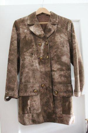 Wunderschöner Vintage-Wildleder-Mantel in Größe S-M