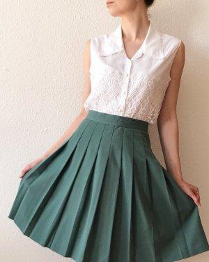 Vintage Plaid Skirt petrol-cadet blue