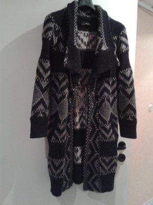 wunderschöner warmer Strickmantel Cardigan Stickjacke norweger - Mode Cindy Crawford