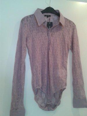 wunderschöner weicher Blusen Boddy / im angesagten rose rosa Pastell & Spitze