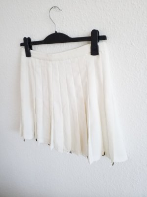 Zara Pleated Skirt white-silver-colored