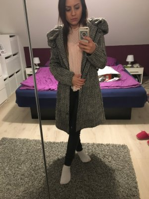 Zara Manteau blanc-gris anthracite