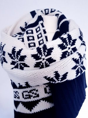 G-Star Gebreide sjaal zwart-wit Wol