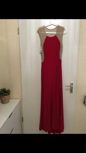 Wunderschönes Abendkleid in rot / Gold