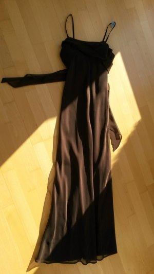 Wunderschönes Abendkleid/Kleid für Hochzeiten in braun inkl Schal
