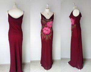 Wunderschönes Abendkleid von ZERO mit Wasserfallausschnitt vorn und hinten