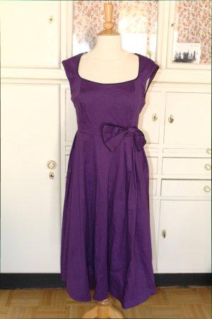 Midi Dress dark violet cotton