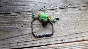 Wunderschönes Armband echt silber Designerstück mit echten Glasperlen