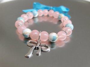Wunderschönes Armband in rosa und blau