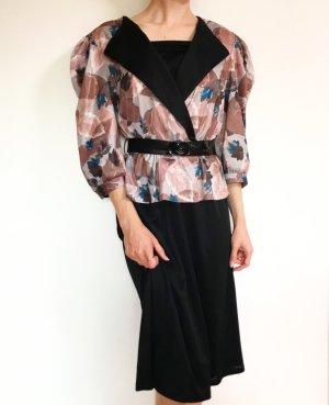Wunderschönes ausgefallenes Vintagekleid mit Schößchen und passendem Gürtel