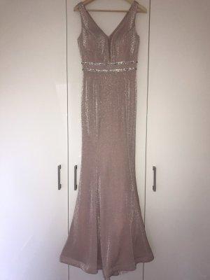 Robe de bal or rose