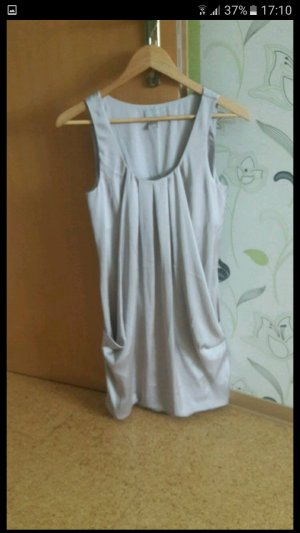 Balloon Dress silver-colored