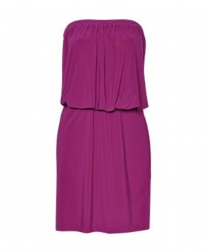 Vestido bandeau lila-violeta