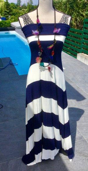 100% Fashion Robe longue multicolore coton