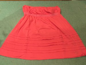 Abercrombie & Fitch Bandeau Top bright red-salmon