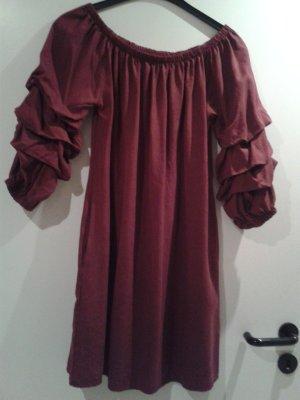 wunderschönes besonderes blogger Kleidchen Kleid rot dunkelrot - italienische Mode