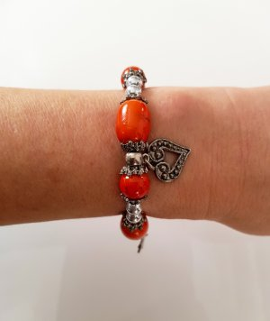 Charm Bracelet bright red-silver-colored