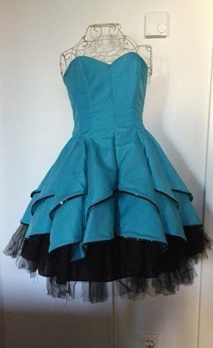Wunderschönes blaues Cocktail-Kleid perfekt für Abiball - 1x getragen